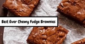 Best Ever Chewy Fudge Brownies