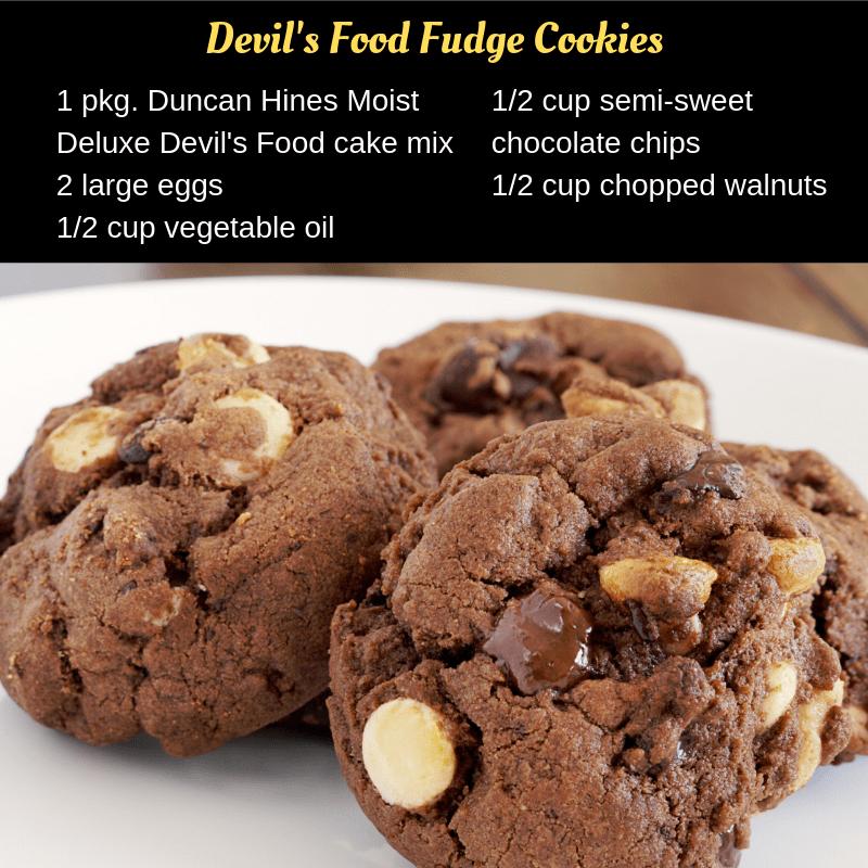 Devils Food Fudge Cookie Ingredients