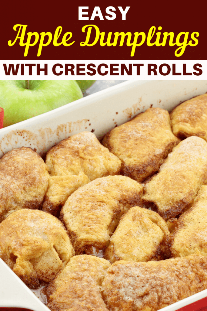 Easy Apple Dumplings (with Crescent Rolls!)
