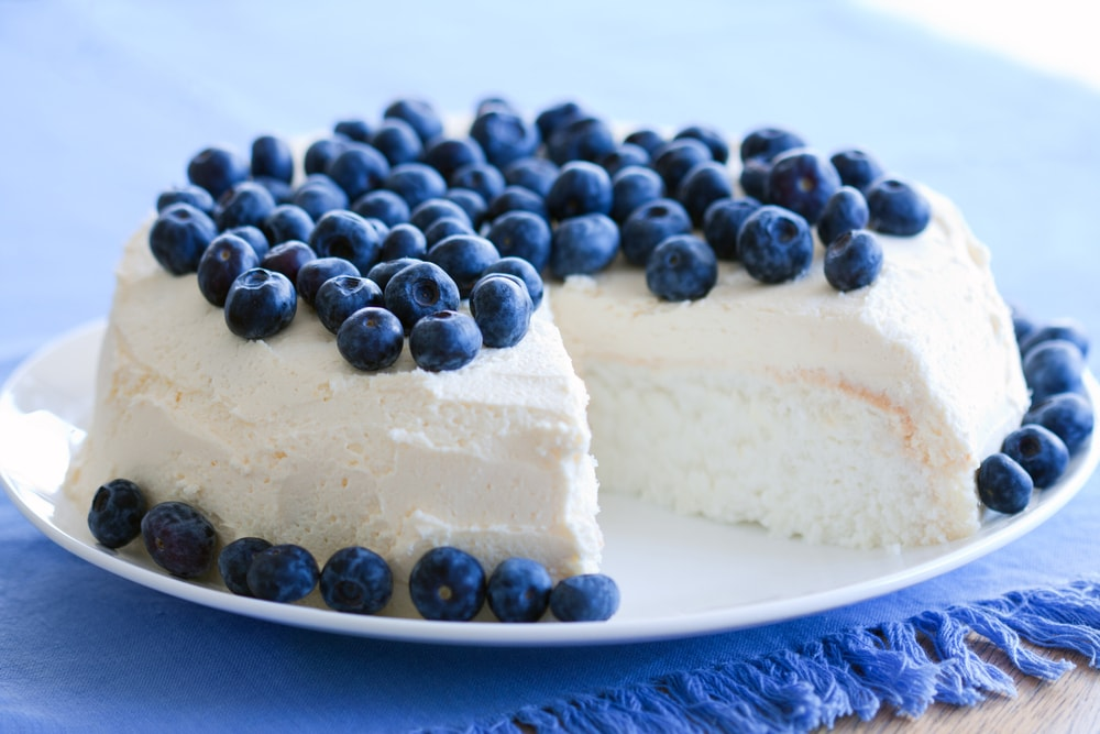 Angel Food Cake with Icing