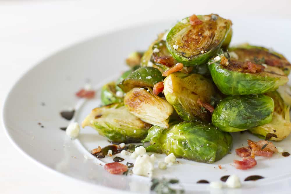 Roasted Brussels Sprouts wit Bacon  Bits