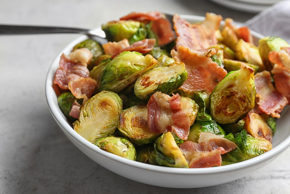 Roasted Brussels Sprouts With Bacon