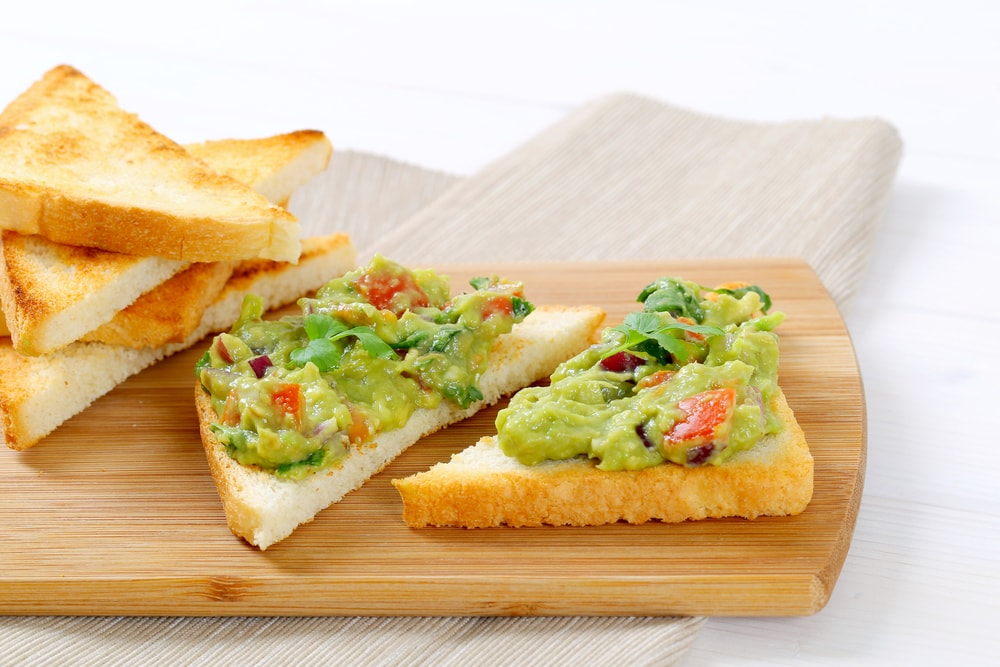 Toasted Bread With Guacamole