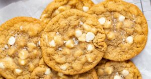 Homemade Chewy White Chocolate Chip Cookies