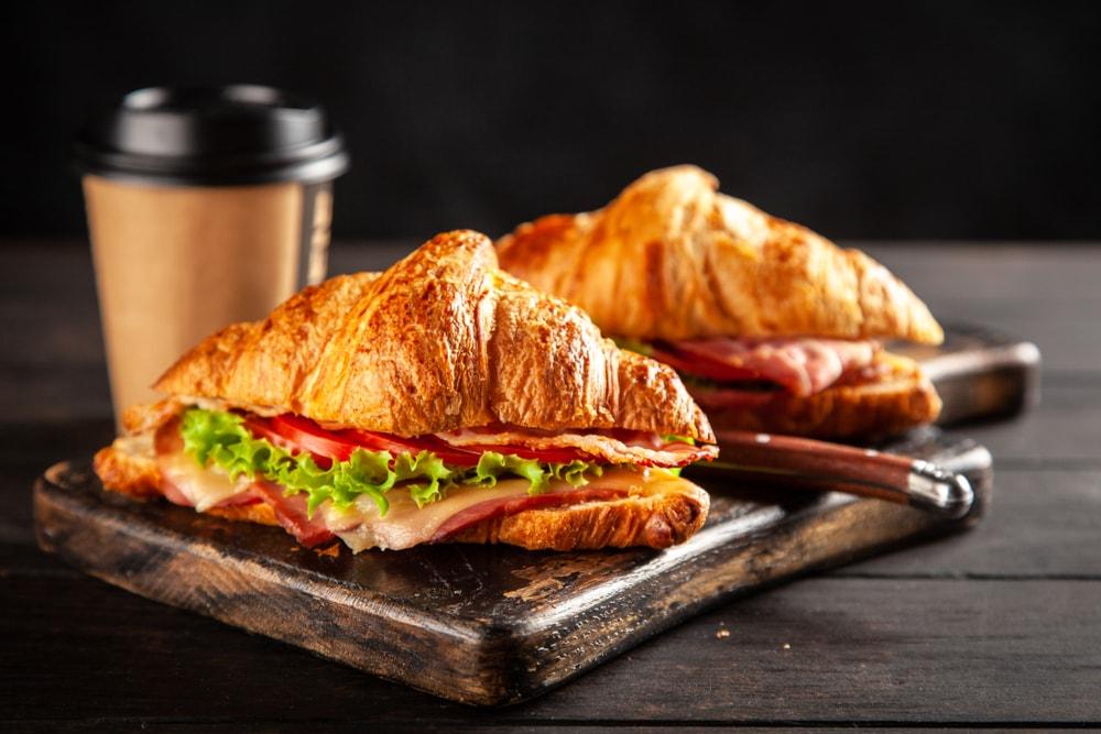 Bacon Croissant Sandwich
