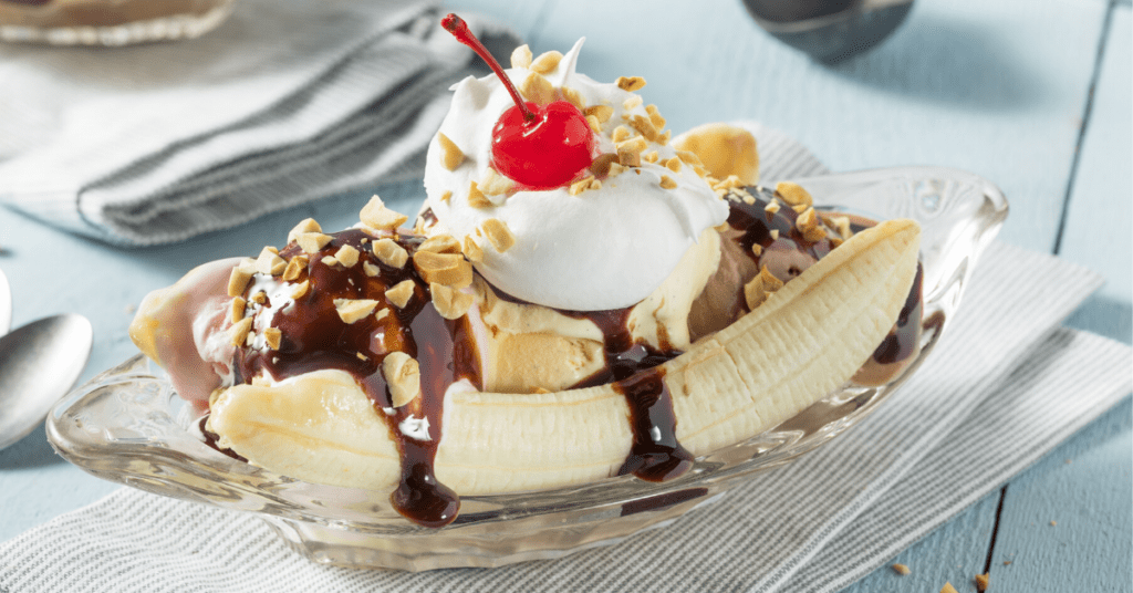 Banana Split with cherry on top