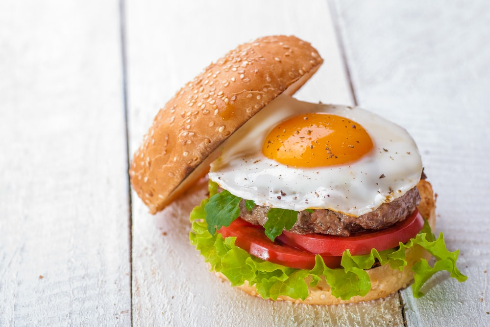 Fried Egg on a Burger