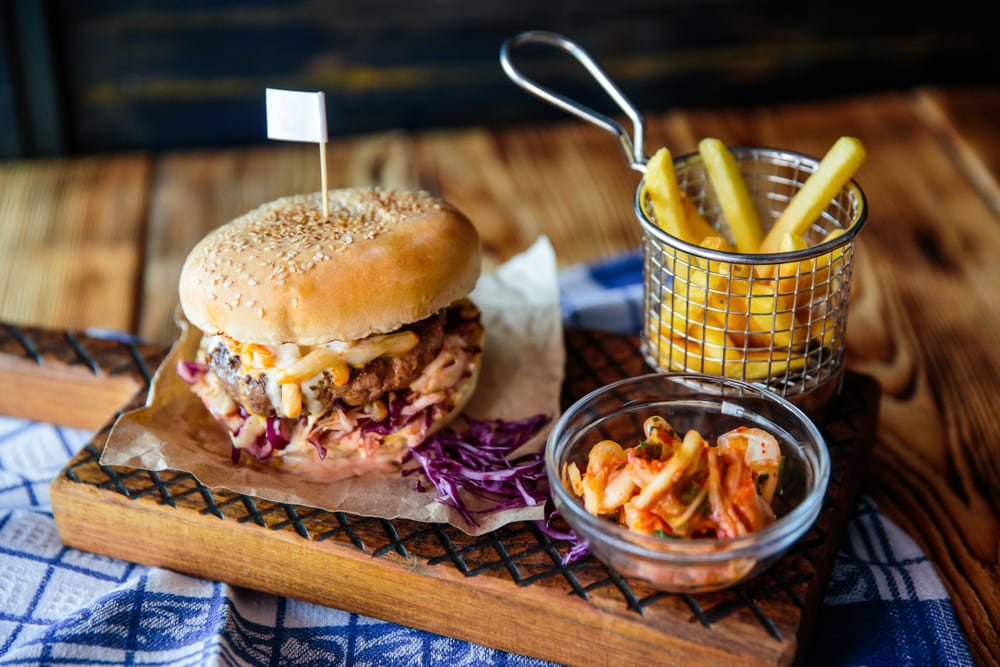 Kimchi with a Burger
