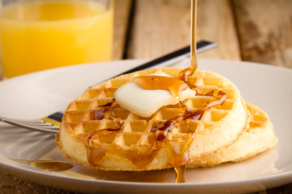 Waffle with Buttermilk Syrup