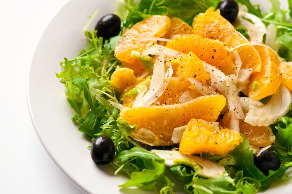 Green Salad With Orange