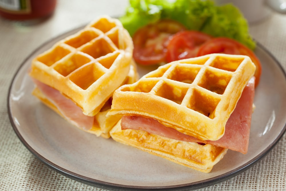 Ham and Cheese Waffle