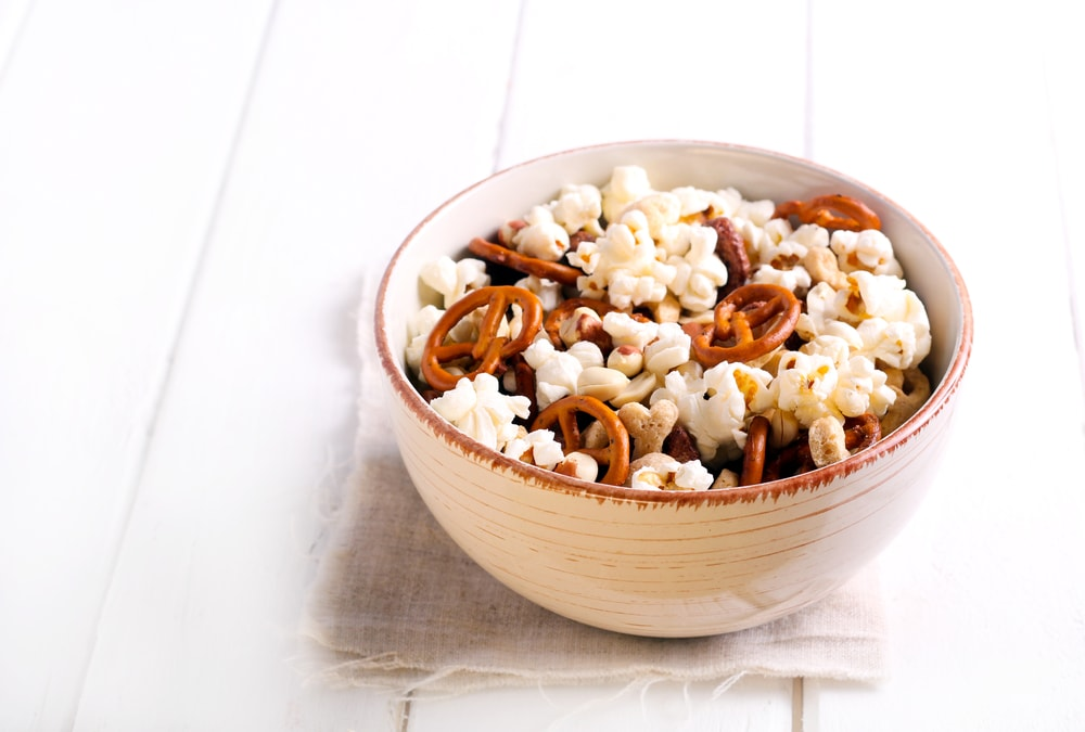 Kettle Corn With Pretzels and Snacks