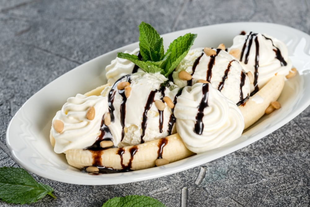 Banana Split With Mint