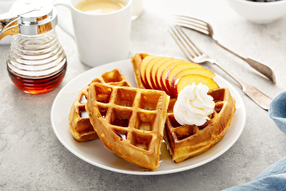 Peaches and Honey Waffle