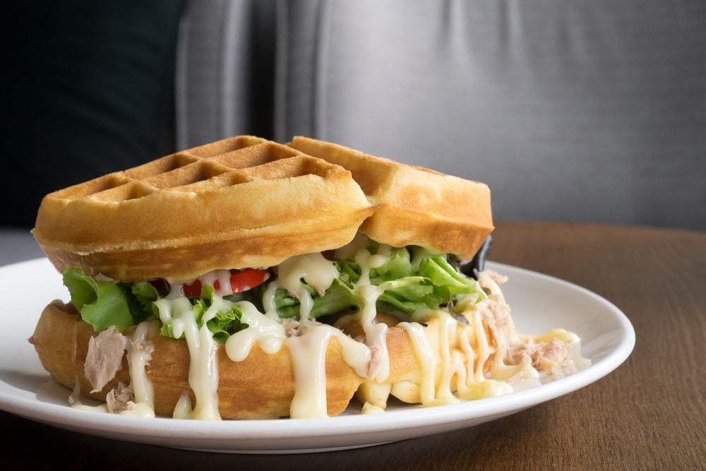 Tuna Salad Waffle Sandwich