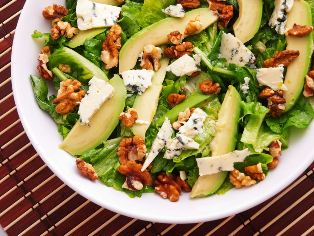 Avocado Salad with walnuts
