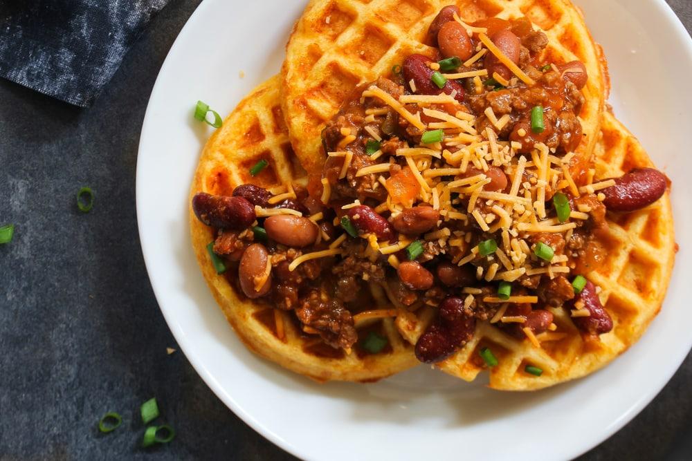 Chili Corn Carne Waffle