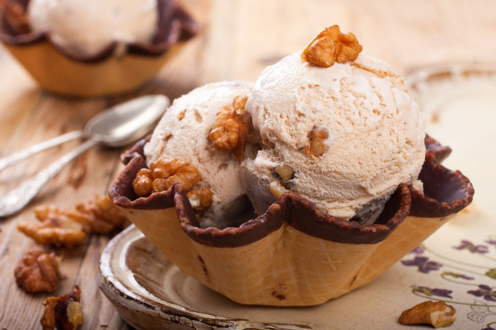 Ice Cream and Chopped Nuts
