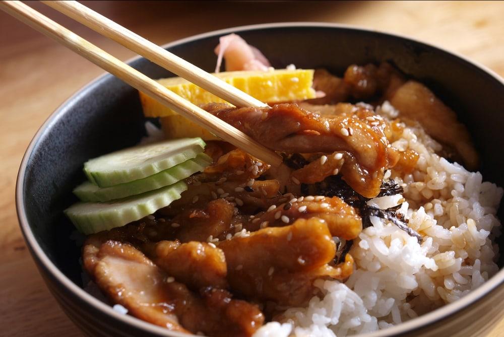 Japanese Rice with Teriyaki Chicken