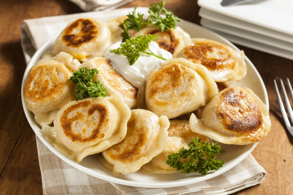 Perogies with Sour Cream