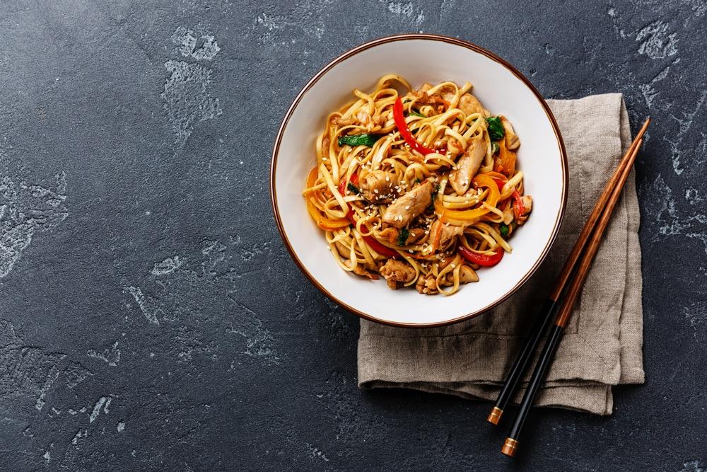 Potsticker Rice Noodle Bowl