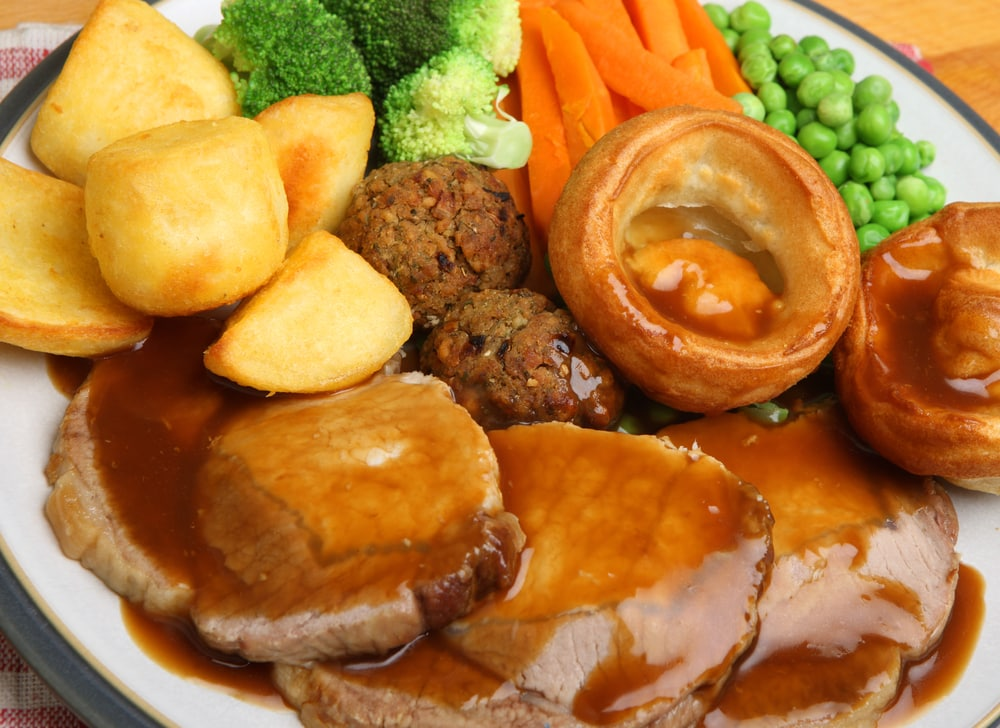 Yorkshire Pudding with Roast Beef