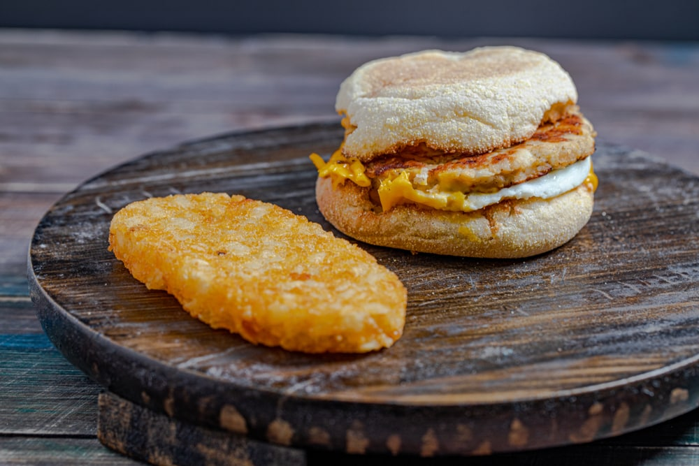 Breakfast Sandwich with Hash Brown