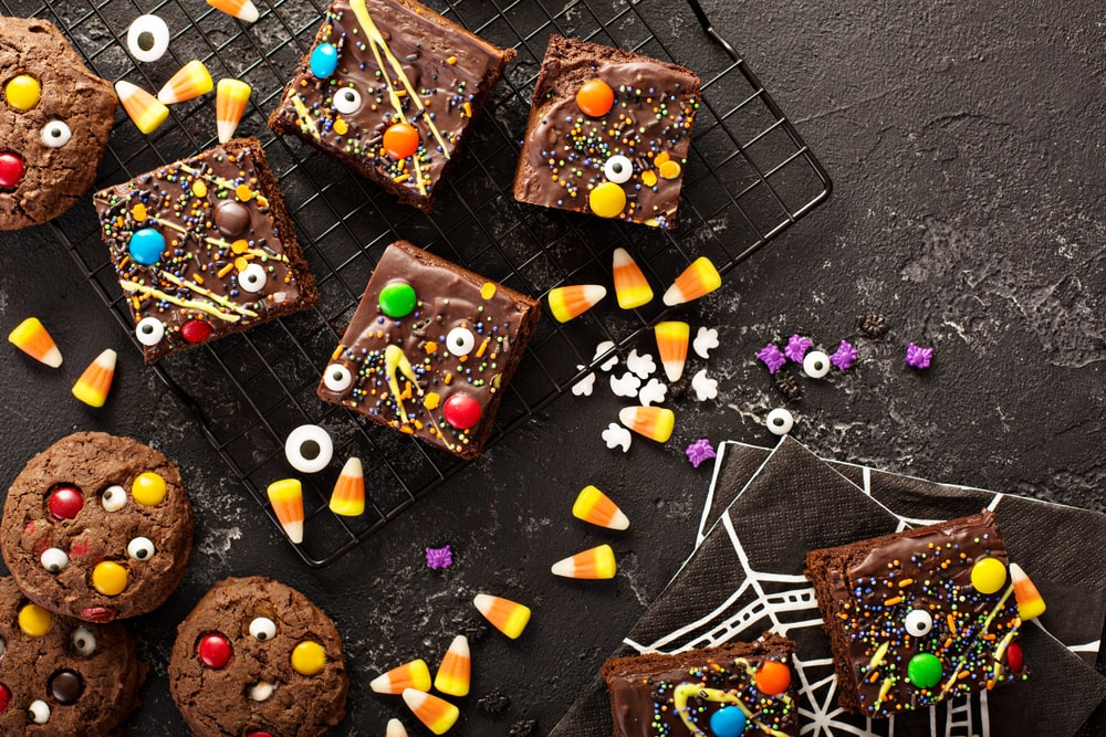 Brownies with Candy Toppings