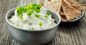Clam Dip Topped With Chopped Onions
