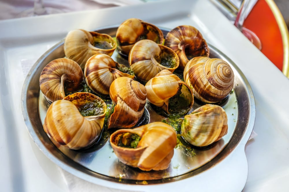 Cooked Land Snails or Escargot