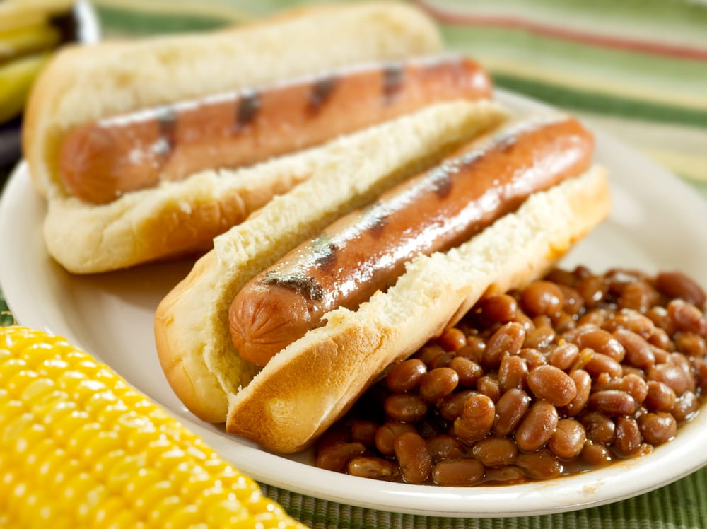 Hotdogs with Baked Beans