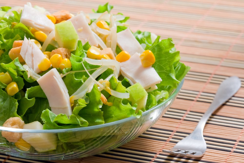 Lettuce Salad with Corn