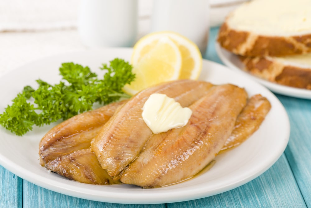 Cooked Kipper with Butter
