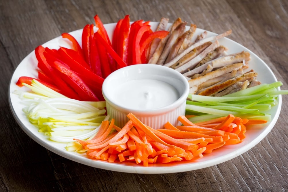 Julienne Cut Vegetables