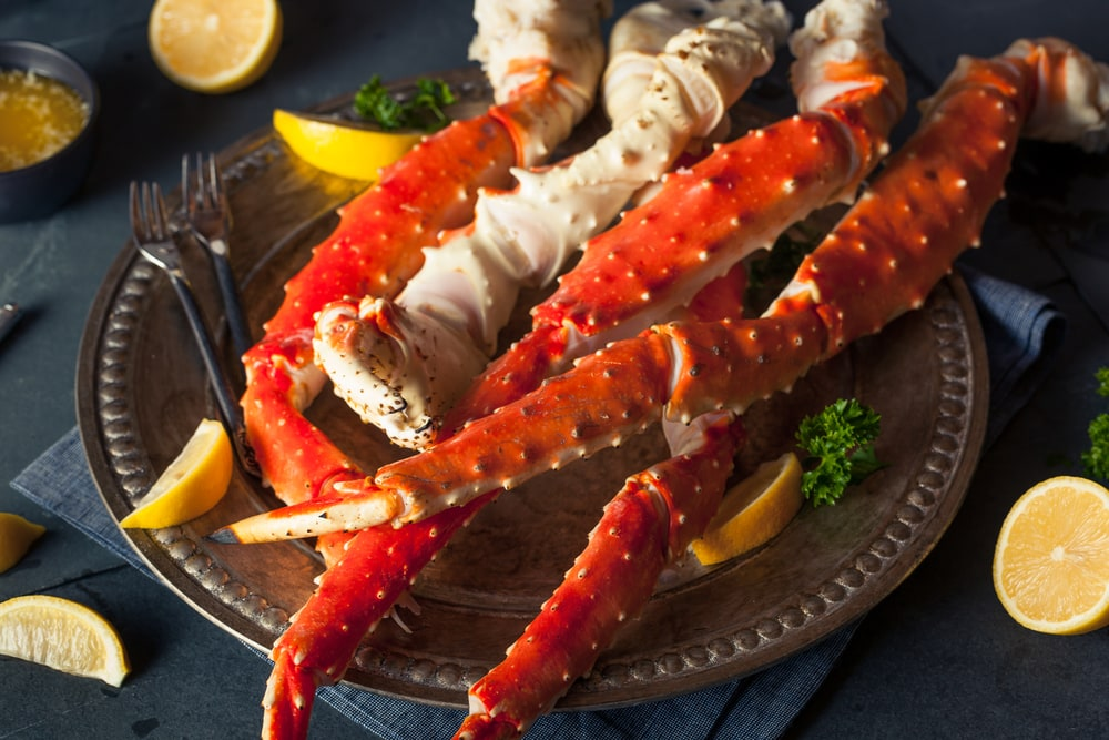 Cooked Organic King Crab Legs