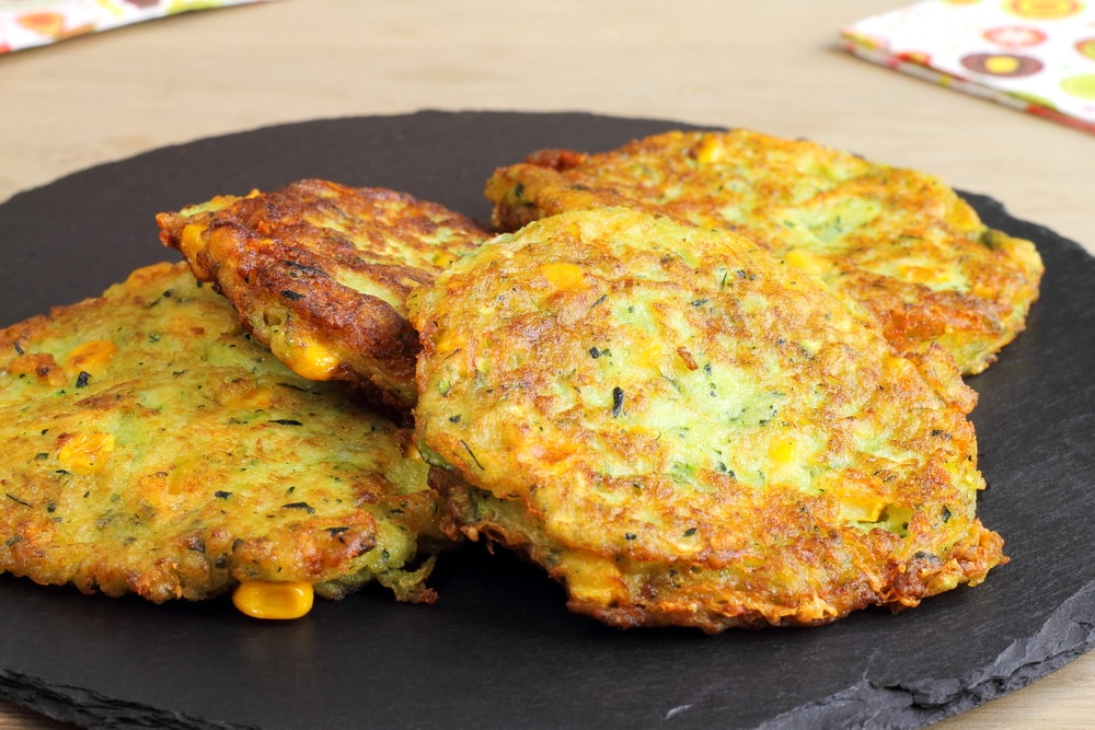 Corn Fritters on a Plate
