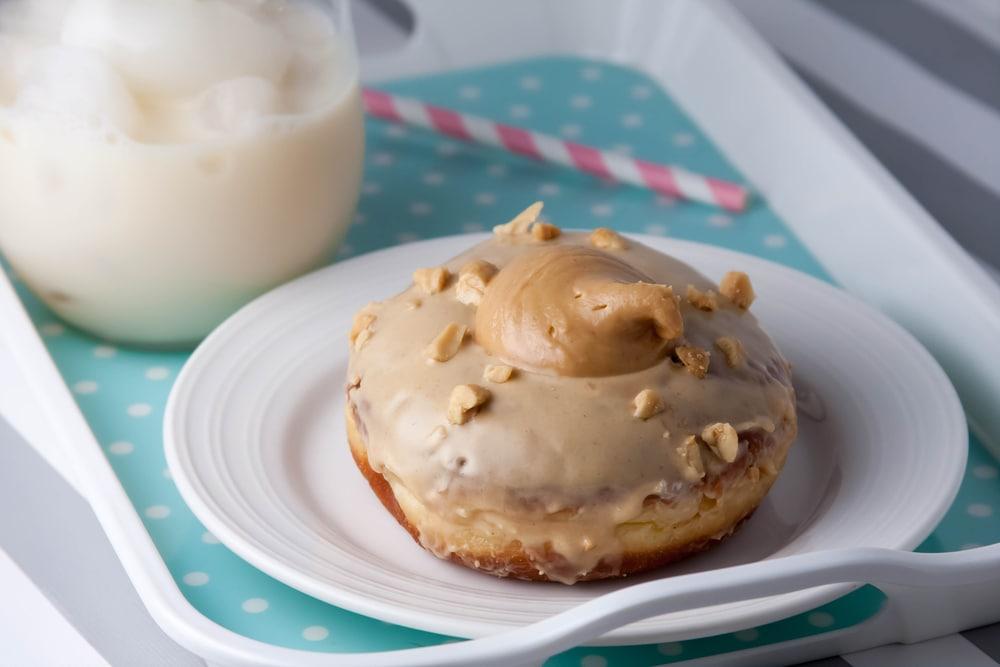 Donut with Peanut Butter Glaze