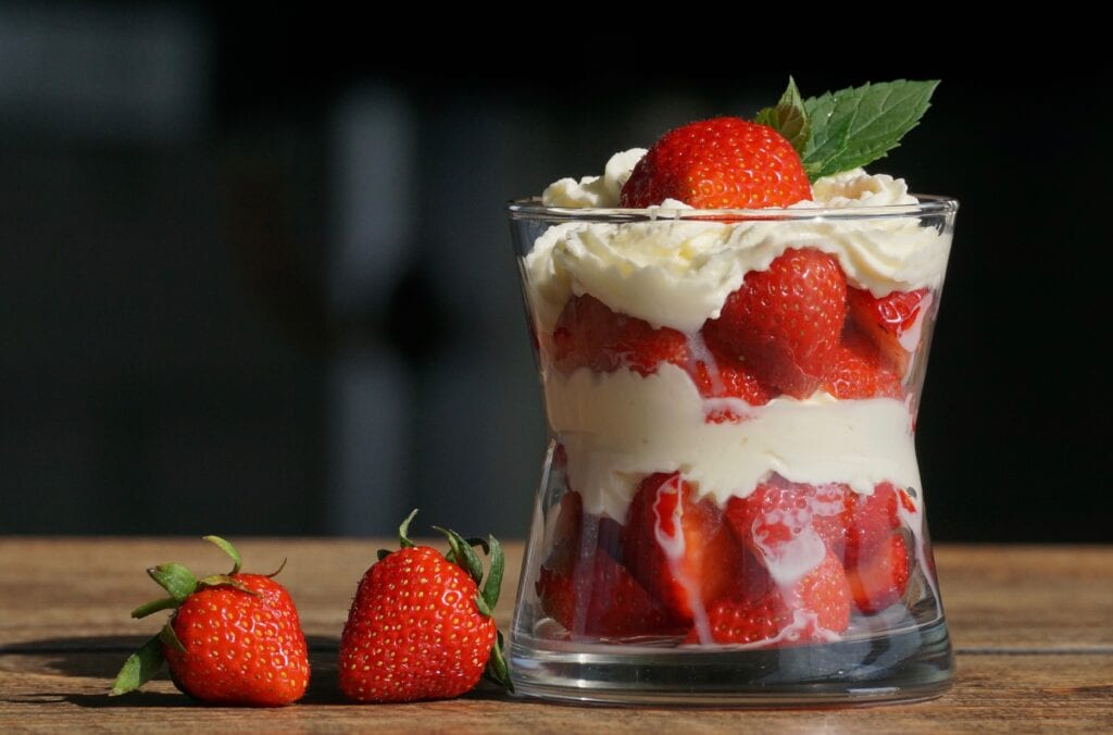Strawberry Eggnog Trifle