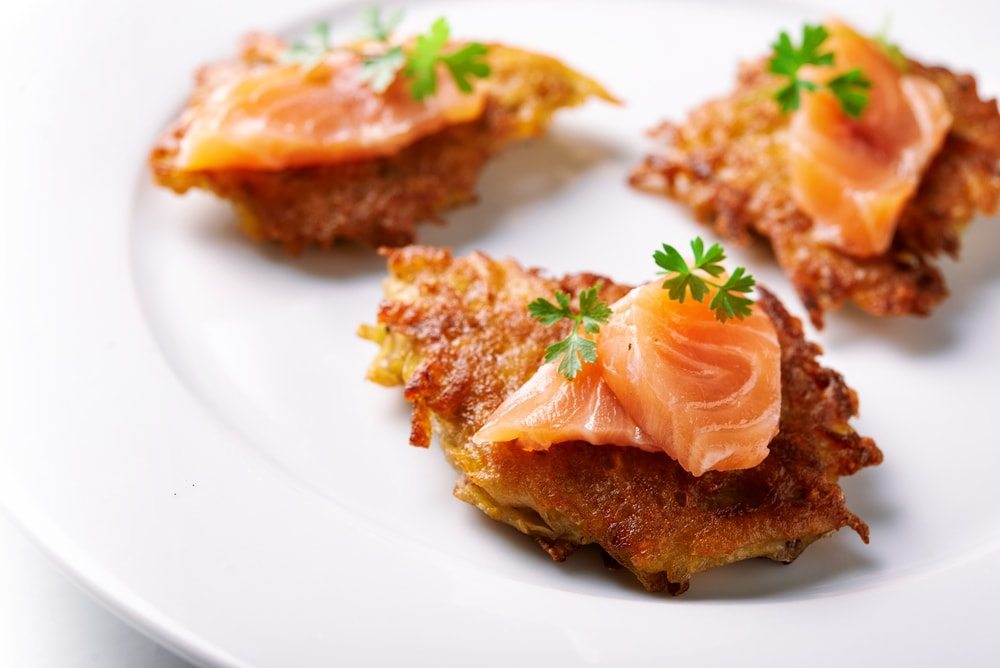 Hash Browns with Smoked Salmon