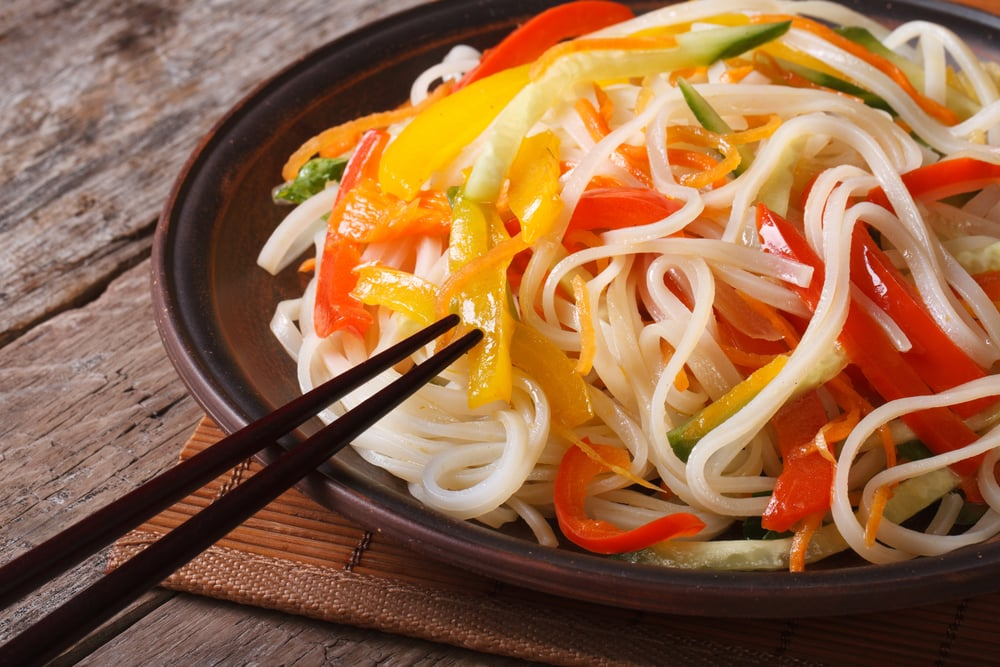 Rice Noodles with Carrots