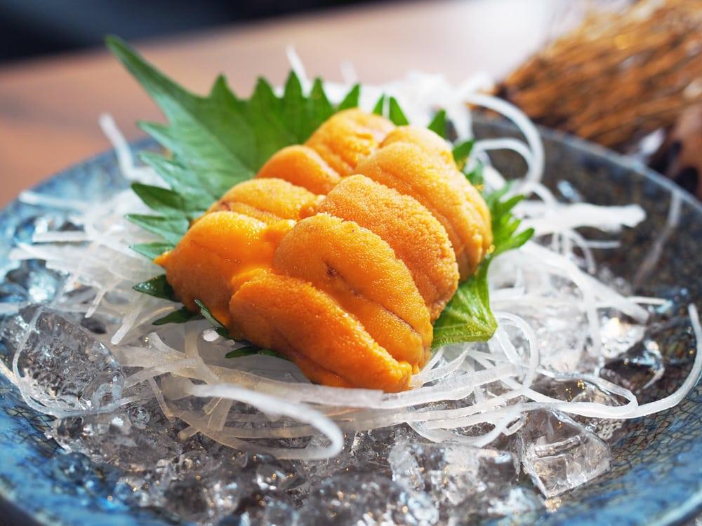 Uni Sashimi In Ice