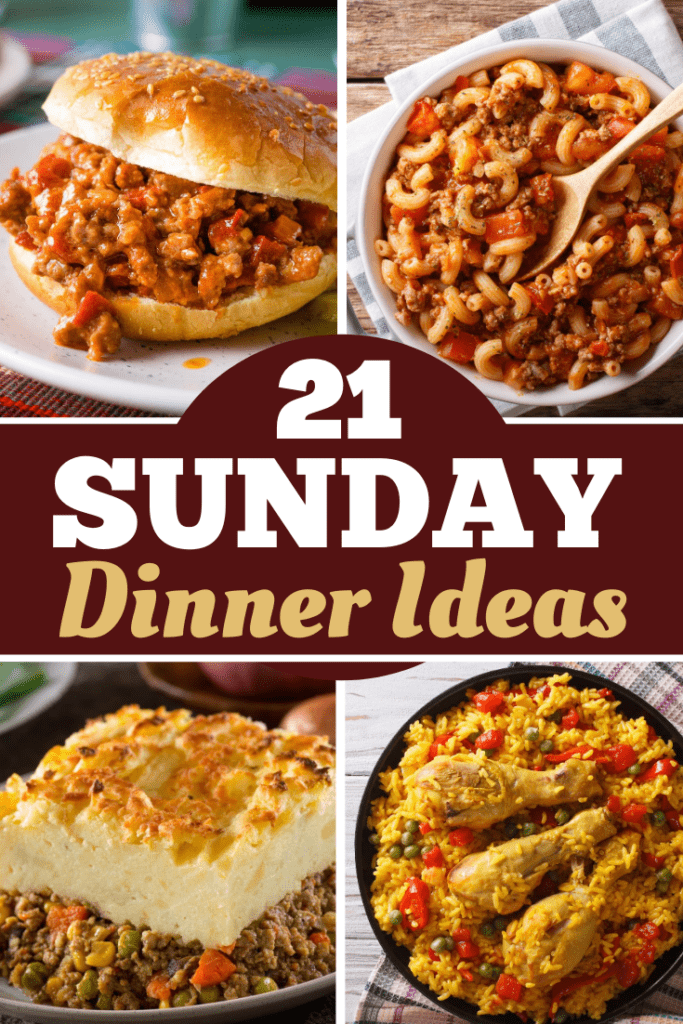 21 Sunday Dinner Ideas