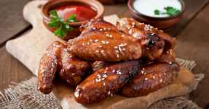 Baked Chicken Wings With Sesame Seeds