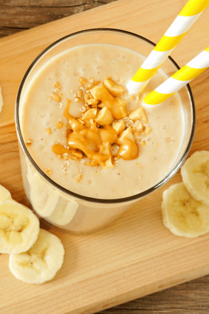 Creamy Banana Peanut Butter Smoothie
