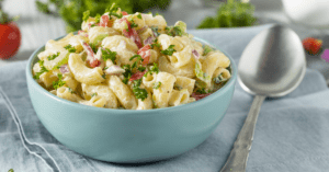 Macaroni Salad With Onion and Parsely