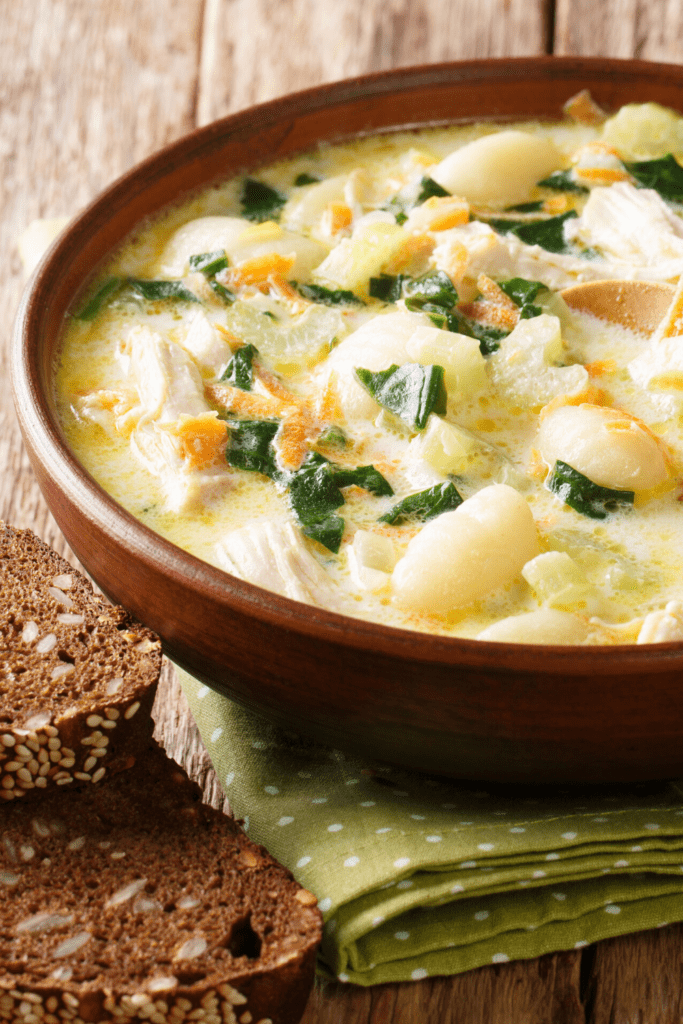 Bowl of Chicken Gnocchi Soup
