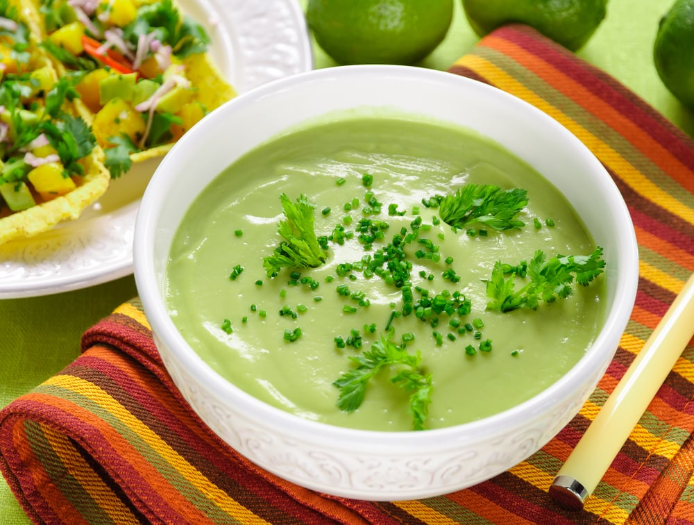 Bowl of Chilled Avocado Soup
