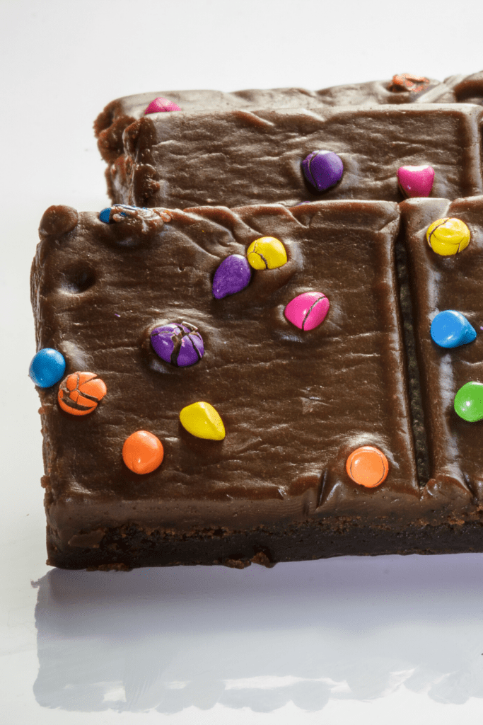 Cosmic Brownies With Colorful Candies