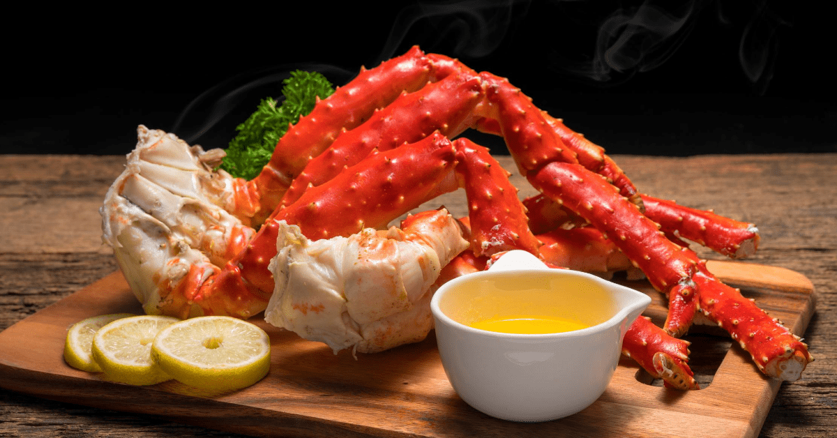 Crab Legs with Melted Butter