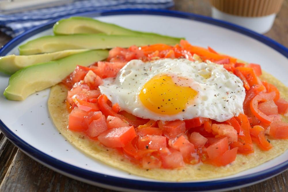 Eggs, Salsa and Avocado